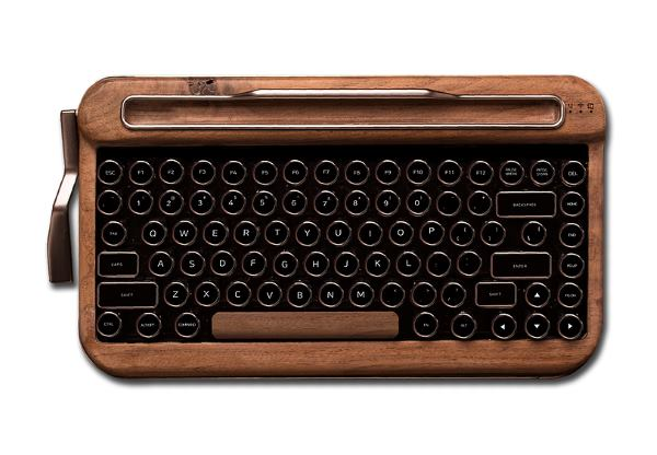 retro wood keyboard