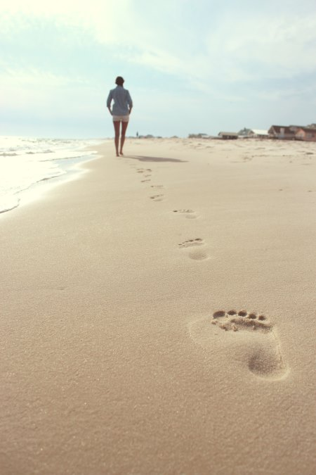 walking on the beach an help you stay in shape