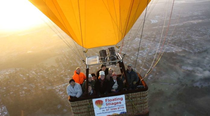 curing fear of heights in a hot air balloon
