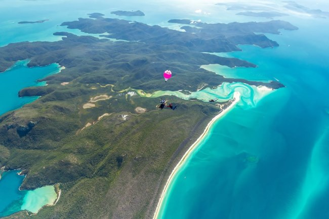 skydive off the reef