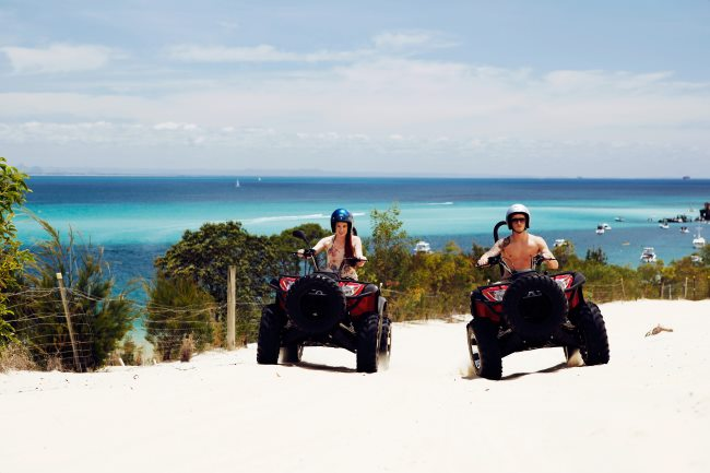 Quad bike in paradise just a short ferry ride from Brisbane