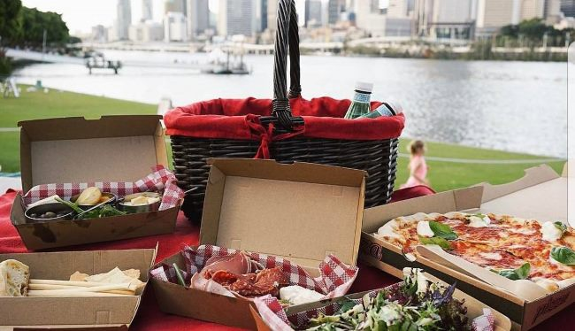 Enjoy a picnic in a stunning Brisbane setting