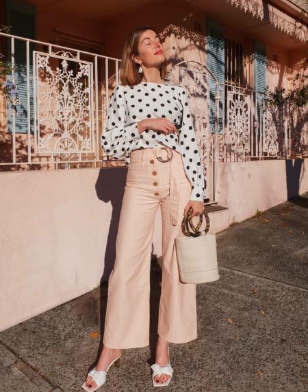 cool polka dots in fashion