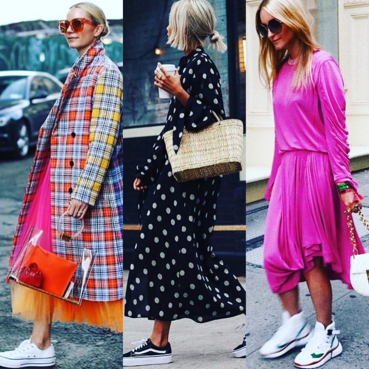 Stylish in sneakers: How to wear sneakers with a dress