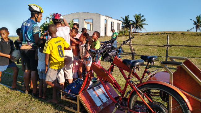 cycling on Fiji's sugar cane tracks